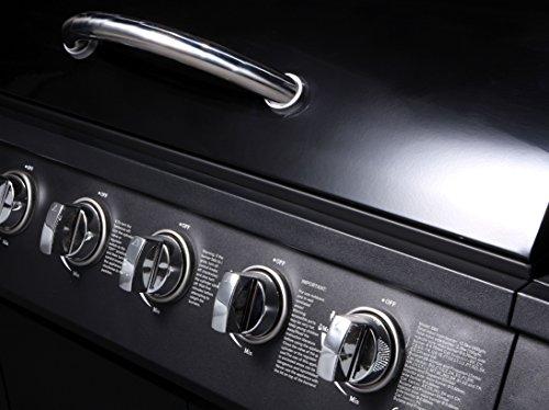 CosmoGrill 6+1 Gas Burn Grill BBQ Barbecue w/ Side Burner & Storage