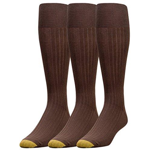 Gold Toe Herren Socken, Einfarbig Einheitsgröße Gr. 47-49, braun - Toe Herren-baumwoll-socken Gold