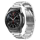 VICARA Pebble Time 2 Uhrenarmband 22MM Edelstahl Metall Metallarmband Edelstahl für Uhren Uhrenarmbänder Huawei Pebble Time Pebble Time Steel, Samsung Gear S3 Frontier Classic(22MM, Silber)