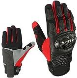 Sport Motorrad Handschuhe Vollfinger Sommer Rot Army Gloves Gr S , M , L , XL und 2XL HS 004 (L)