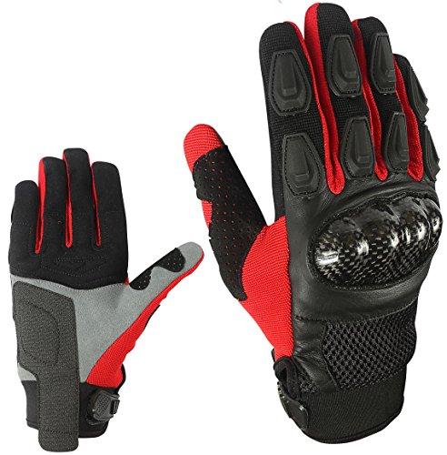 Sport Motorrad Handschuhe Vollfinger Sommer Rot Army Gloves Gr S , M , L , XL und 2XL HS 004 (2XL)