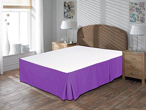 Komfort Bettwäsche 650tc 3Bettvolant 48,3cm Drop Länge 100% ägyptische Baumwolle massiv, violett, Emperor (19 Zoll Bedskirt)