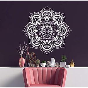 Mandala Wandtattoo   Mandala Lotus Blumendekor   Mehndi Wandaufkleber   Yoga Studio Aufkleber   Hergestellt in Polen   Oracal   Boho indisches Schlafzimmer   Mandala böhmische Wandkunst   MN237