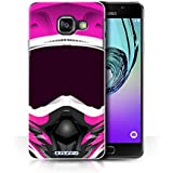 Coque de Stuff4 / Coque pour Samsung Galaxy A3 (2016) / Motocross/Rose Design / Casque Moto Collection