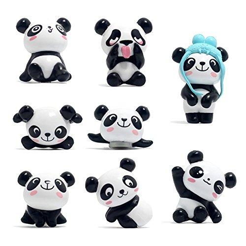 8 Stücke Panda Kühlschrank Büro Magnete für Kalender Whiteboards Karten Resin Fun Dekorative Dekoration (Wir-karte-kalender)