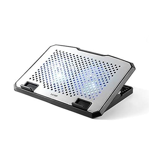 LESHP Cooling Pad USB Portable Ventilateur Portable Refroidisseur pour 10-16 Pouces avec 2 Ventilateurs Silencieux (2 fan)
