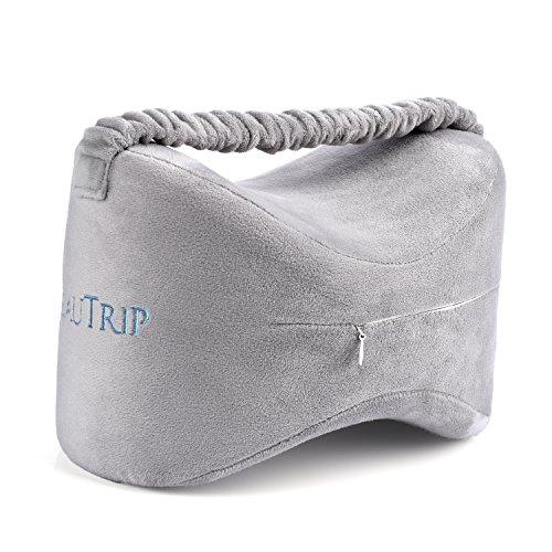 BEAUTRIP Orthopädisches Kniekissen für Seitenschläfer, Knie Kissen mit Bezug, Memory Schaumstoff Knie-Kissen zum Schlafen, Sorgt für Druckentlastung und Ermöglicht eine Ergonomische Schlafposition