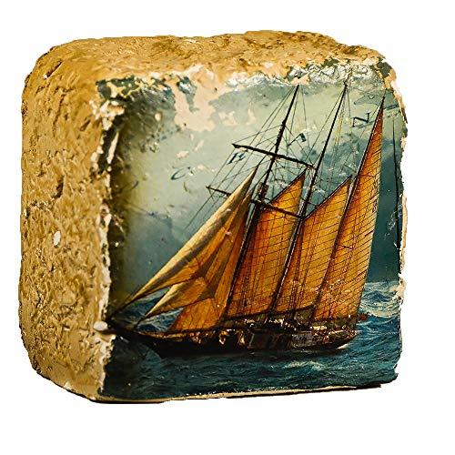 Nautisches Polystone Briefbeschwerer-Schiff Briefbeschwerer-Neuheit Schreibtisch Zubehör-Einzigartige Büro Geschenk -