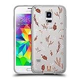 Head Case Designs Muster Goldweihnachten Soft Gel Hülle für Samsung Galaxy S5 Mini