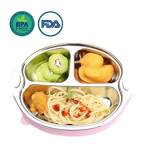 OldPAPA boîtes Repas - faciles d'Entretien - boîtes Repas compartimentées pour Adultes et Enfants Plateau divisé en Acier Inoxydable Intelligent, Recommandé pour des Repas Plus sains