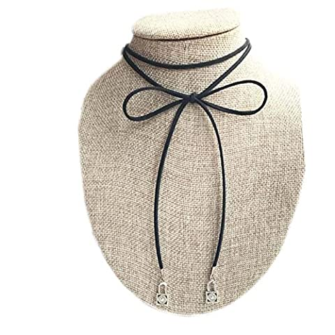 Schöne Halskette Mode Schwarze Hals Seile