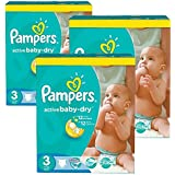 296 couches Pampers Active Baby Dry Taille 3 Midi (4-9 kg)