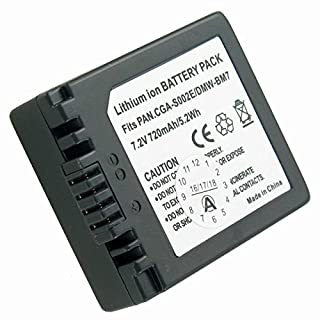 Akku kompatibel mit Panasonic Lumix DMC-FP3AB, DMC-FZ1, DMC-FZ10, DMC-FZ10EB, DMC-FZ10EG-K, DMC-FZ10EG-S, DMC-FZ10GN, DMC-FZ15, DMC-FZ15K, DMC-FZ15P, DMC-FZ1A, DMC-FZ1A-K, DMC-FZ1A-S, DMC-FZ1B, DMC-FZ1PP, DMC-FZ2, DMC-FZ20, DMC-FZ20BB, DMC-FZ20E, DMC-FZ20EG-K, DMC-FZ20EG-S, DMC-FZ20K, DMC-FZ20PP, DMC-FZ20S, DMC-FZ2A-S, DMC-FZ2E, DMC-FZ2PP, DMC-FZ3, DMC-FZ3B, DMC-FZ3EG-S, DMC-FZ3GN, DMC-FZ3PP, DMC-FZ4, DMC-FZ4EG-S, DMC-FZ4PP, DMC-FZ4S, DMC-FZ5, DMC-FZ5EB, DMC-FZ5EG und weitere Modelle