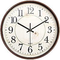 HAOYUXIANG Reloj de Pared Retro clásico de la Vendimia Ronda Barrido Segundo Movimiento Reloj de Pared