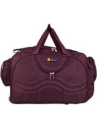 N Choice Fabric Purple Expandable Duffle Bag