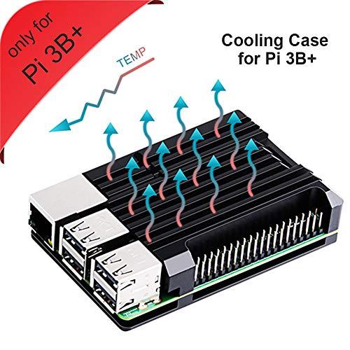 GeeekPi Armor Caja, Caja de aleación de Aluminio Raspberry Pi 3 B + sin Doble...