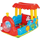 Bestway Children's Inflatable Train Ball Pit, Includes 25 Balls, Age 2 to 18 Years