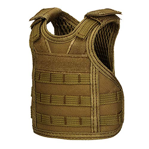Beer Vest Mini Tactic Military Vest For Beer Bottle Miniature Wine Bottle Cover Vest Beverage Cooler Camping Hiking Accessories Volume Large Sports & Entertainment Hiking Clothings