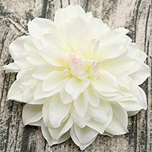 SUXIAO 15CM Big Artificial Silk Corsage Headdress Dahlia Chrysanthemum Flowers Handmade DIY Home Decor Head,8