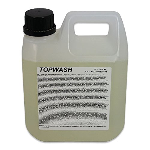 1 St. Top Wash zur Reinigung textiler Oberflächen wie Teppiche, Polster, bezüge, Auch als Universalreiniger bestens geeignet, Schwach schäumender neutraler Reiniger 1-3 1Liter vom Hersteller ... - Wap Reinigung