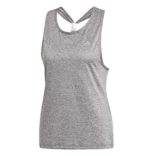 adidas Damen Club Tie Tanktop, Dark Grey Heather, S -