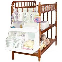 URAQT Cama Wateproof Nursery Organizador de Bebé Colgantes Bolsa de Almacenamiento de Pañales Infantil Cuna Toallitas 3d Niños