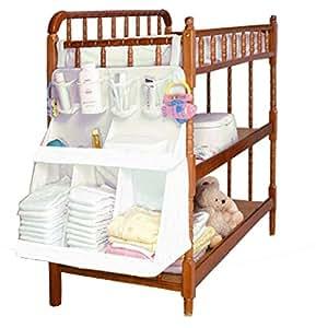Baby nursery organizer hanging organizer for bed diaper for Nursery hanging storage
