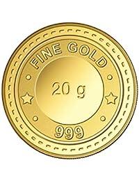 GGC Gujrat Gold Centre 24k (999) Yellow Gold 20 Gram Cast Bar Bar