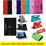 SMM 360 Rotate With Stand Universal 7'' Tablet Flip Cover For Lenovo A7-50 Tablet (Assorted Color)(Free OTG Connector).