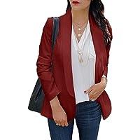 ORANDESIGNE Donna Blazer Maniche Lunghe Aperto Davanti Colletto Cappotto Elegante Ufficio Business Blazer Top Gilet…