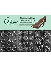 6915591b7f57 Cybrt Rayd Bun/W002 W007 W051 3 piezas formas de chocolate de boda