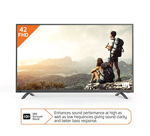 Micromax 106.7 cm (42 inches) 42R7227 Full HD LED TV (Metallic Silver)