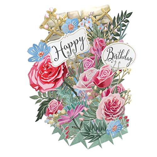 Geburtstag Blumen-3D Pop-Up Grußkarte by me & McQ schlägt zu
