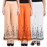#7: NumBrave Multicolor Printed Viscose Palazzos (Pack of 3)