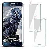moex 2X 9H Panzerfolie für Samsung Galaxy S6 Edge | Panzerglas Display Glasfolie [Tempered Glass] Screen Protector Glas Displayschutz-Folie für Samsung Galaxy S6 Edge Schutzfolie