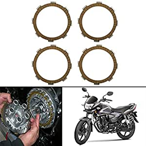Autofy Highly Durable Aluminium Clutch plates/Clutch Disc For Honda Shine All Models (Set of 4)