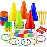 FEPITO Bean Bags Forniture di giochi per giochi di Squadra all'aperto Giornate dello Sport Tossicelli Bomboniere, 20 pezzi in totale (6 in 1 (36pcs))