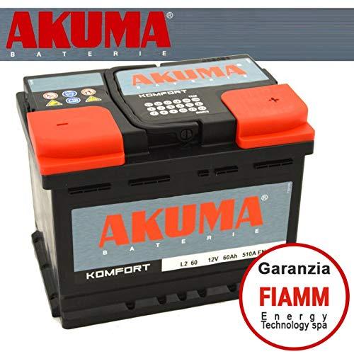 Batteria Auto Akuma = Fiamm 60 Ah 12V 510A En Originale