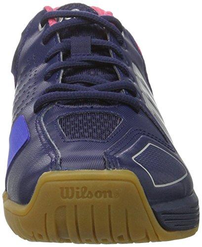 Wilson Unisex-Erwachsene Vertex Navy Wil Turnschuhe Blau (Navy Wil/neon Red Wil/silver Metall)