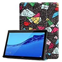 Colorful printed case For Huawei MediaPad T5 10 cases Ultra Slim PU Leather Cover funda for MediaPad T5