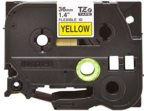 Brother Original P-touch Flexi-Schriftband TZE-FX661 36 mm, schwarz auf gelb (u.a. für Brother P-touch P3600, P9600, P9700PC, P9800PCN) zur Kabel- und Rohrbeschriftung, laminiert