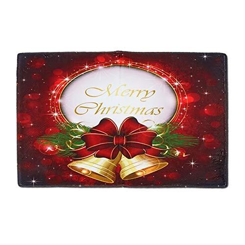Preisvergleich Produktbild YXNN Weihnachtsdekoration Matte,  Saugfähige Rutschfeste Fußmatte,  Rechteckigen Flanell Teppich Küche Badezimmer Wohnzimmer 60 * 90 cm (Farbe : B)