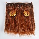 2018 lustig, süß tier - kostüm cosplay löwen - mähne - hut von löwen hat hohe qualität katze spielzeug gefüllt weichen löwen kopfumfang hut passt das genick zu 37-94cm,brown mit ohren,gratis - größe