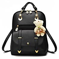 Bag for Girls Women Backpack PU Leather Daypacks Fashion Rucksack for School College Travel Outdoor