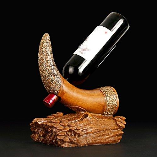 GAODUZI Elfenbein Dekoration Weinregal Weinschrank Dekoration Kreative Regal Kunst Europäischen Persönlichkeit Retro Handwerk ( Farbe : B ) Kunst Handwerk Regal