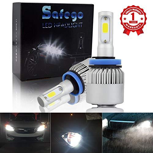 Safego H8 H9 H11 Faro Bulbi Auto LED Luci 8000LM Super Luminosa Lampada con COB Chip per Auto/veicolo Faro Della Luce Delle Lampadine dell'automobile Kit LED 6000K Bianco 12V DC