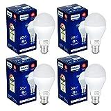 Philips Stellar Bright 20-Watt LED Bulb (Pack of 4, Cool Day Light/Crystal White)