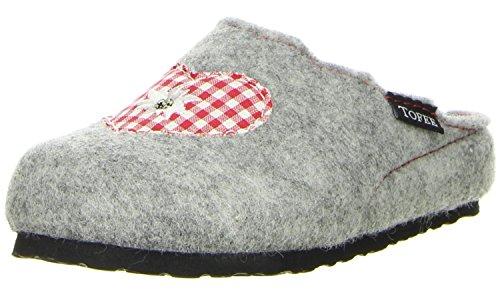 TOFEE Kinder Hausschuhe (Herz/Edelweiss) grau Grau