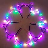 Upper Oreja de Gato LED Diadema Headwear Decoración Accesorio Mujeres Niñas Halloween Fiesta