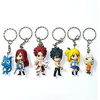 Fairy Tail AMZ Fan Collection Plush Figura de Acción Merchandise Toy Gift Set Manga Anime (Llavero B)